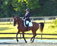 Elizabeth and Genuine Gem competing in Tryon, NC